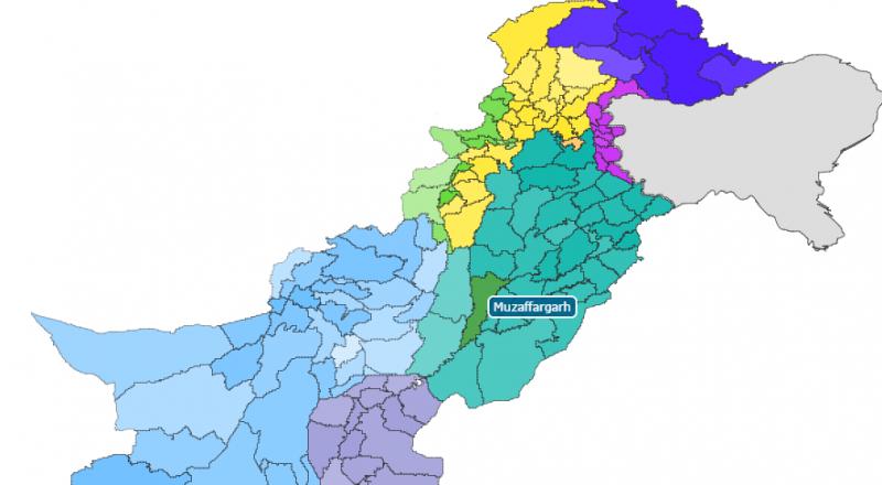 جنوبی پنجاب میں واقع ضلع مظفرگڑھ